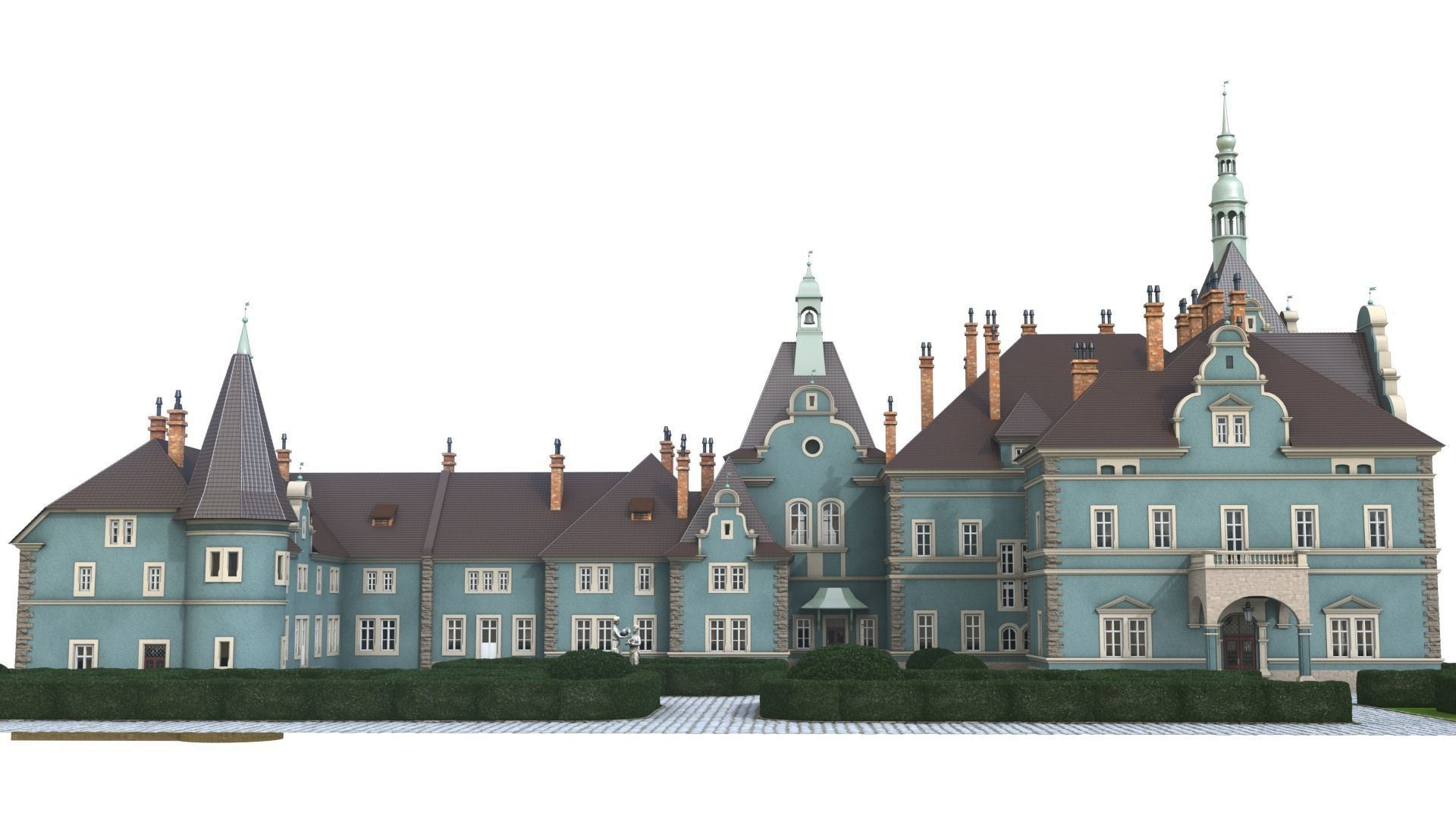Shemborn Castle - version with non-detailed textures