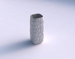 3D print model Vase quadratic tall with organic cells