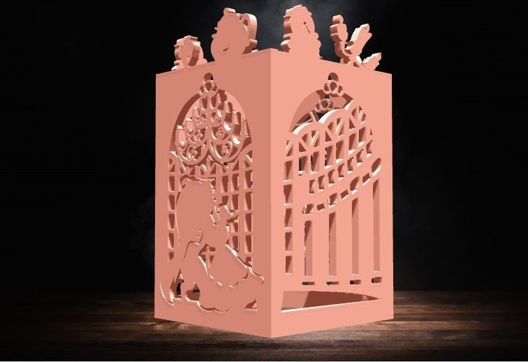 Beauty and Beast Lantern for led candle