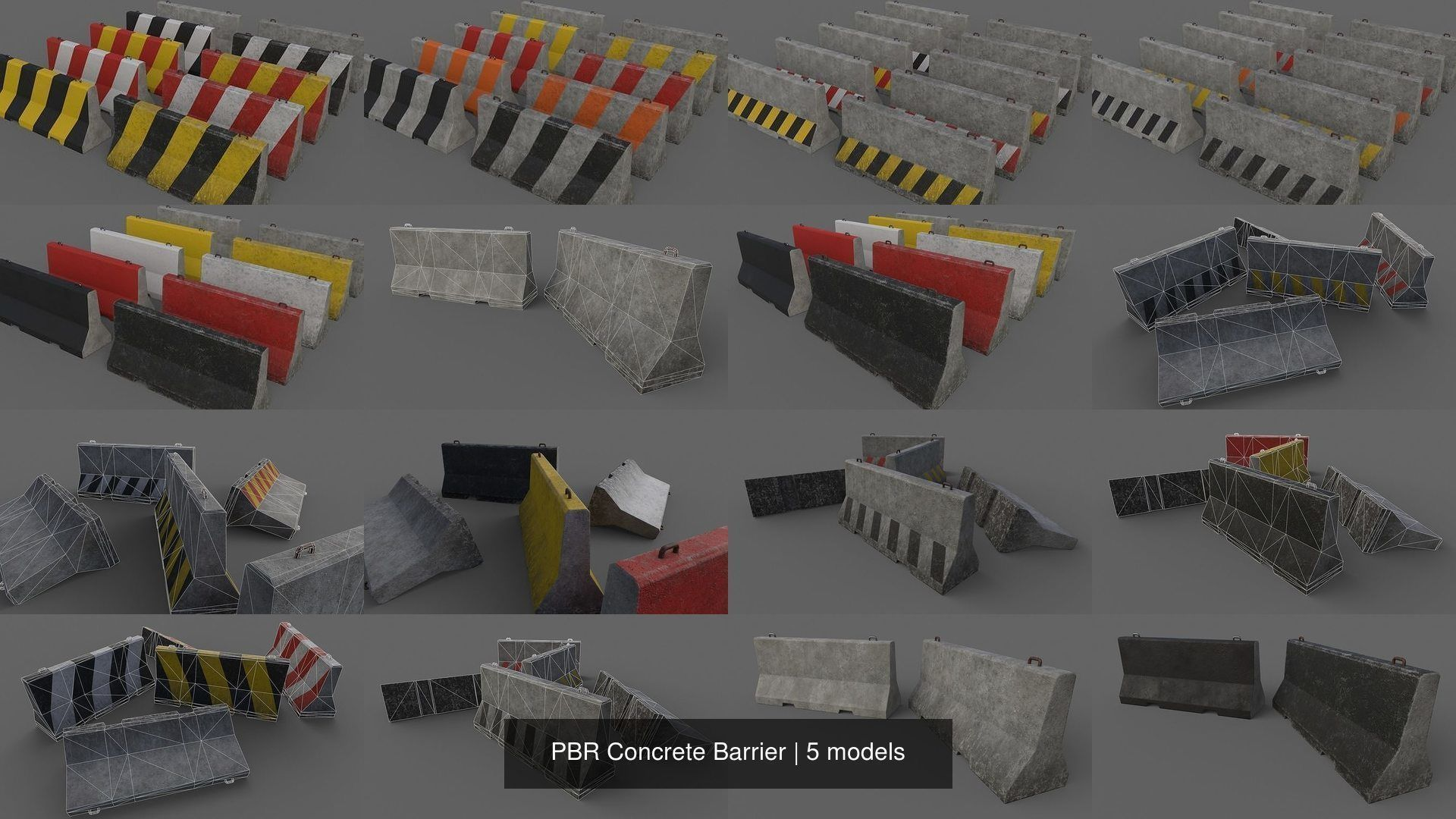 PBR Concrete Barrier