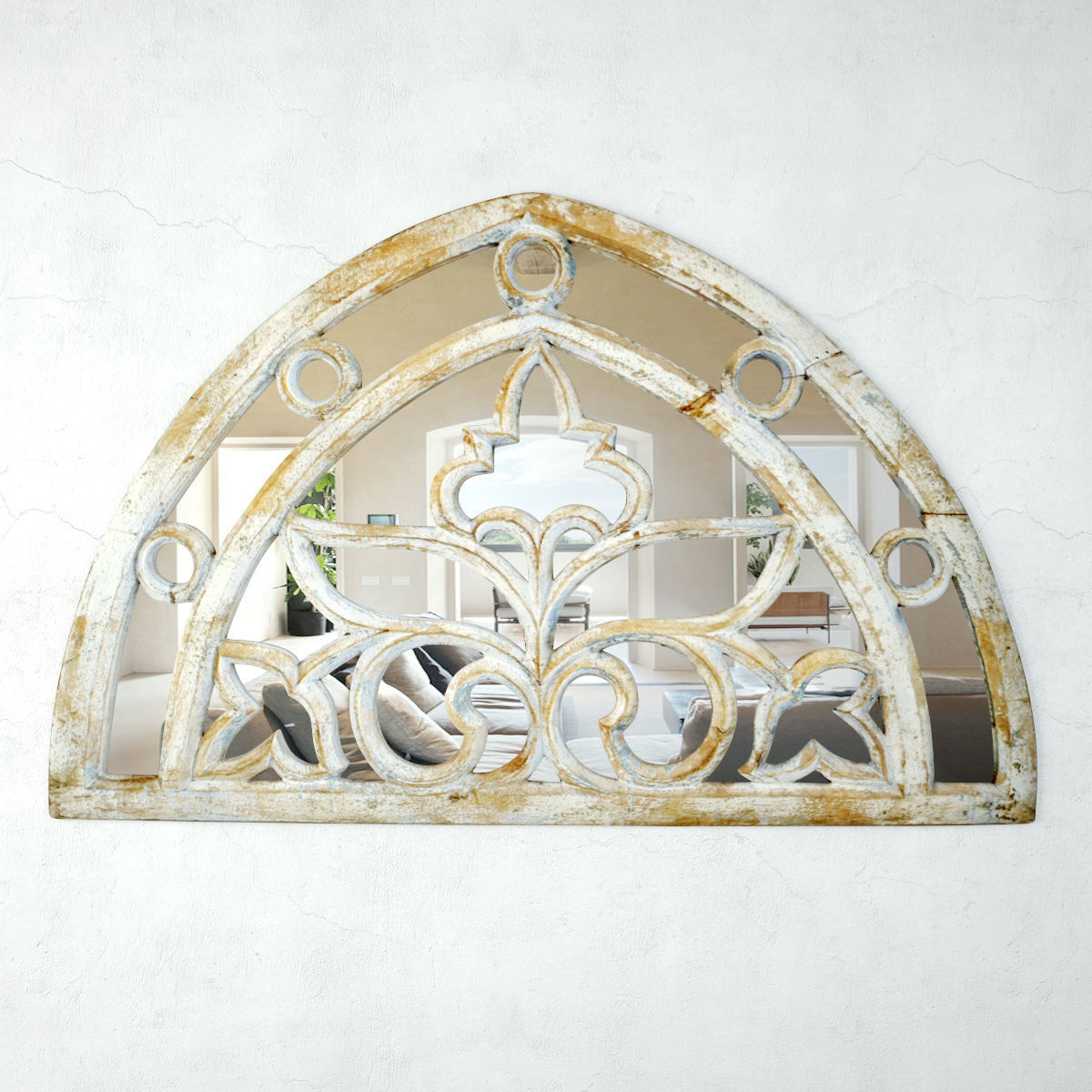 Vintage Arch Transom Mirror