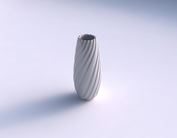 vase bullet with twisted smooth ribbons 3d printable model