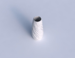 3d printable model vase bullet with twisted rocky bulges