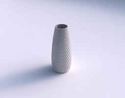 vase bullet with twisted diagonal grid plates 3d printable model
