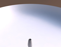 vase bullet with smooth vertical ribbons 3d printable model