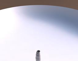 3d print model vase bullet with smooth horizontal ribbons