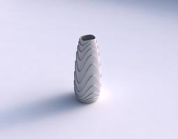 Vase Bullet with horizontal wavy layers 3D Model