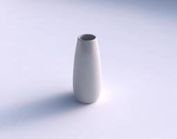 Vase Bullet with diagonal grid pattern 3D Model