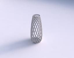vase bullet with diagonal grid lattice 3d printable model