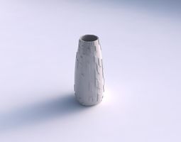 vase bullet with wavy scattered grid plates 3d printable model