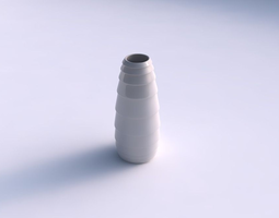 Vase Bullet with horizontal inverted layers 3D Model