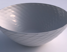 Bowl wide with distorted grid plates 3D print model