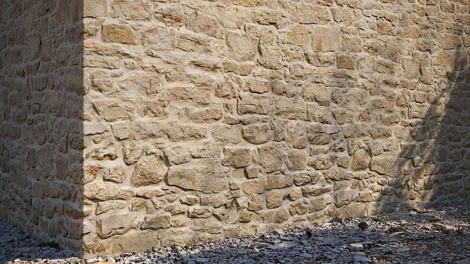 Yellow stone seamless wall texture