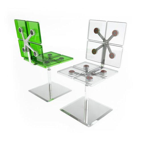 modern chairs casamania 3d model obj mtl 1
