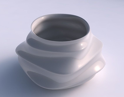 bowl twisted elipse with horizontal sections 3d print model