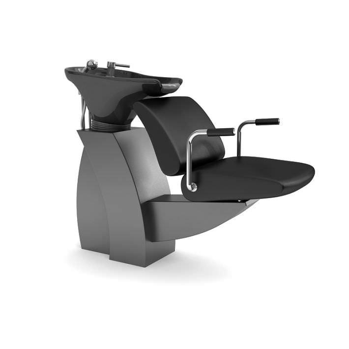 hair salon chair 3d model obj cgtrader com