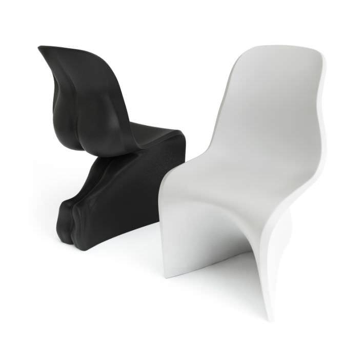 Modern White Black Chairs Casamania