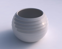 bowl spheric with horizontal inverted layers 3d printable model
