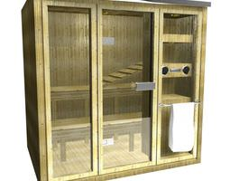 fully self contained sauna 3d model