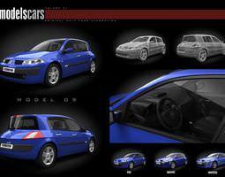 renault megane ii car 3d