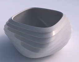 3d printable model bowl helix with horizontal inverted layers
