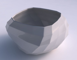 3D printable model Bowl helix with curved creases