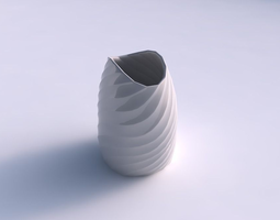 3D printable model Bowl compressed with twisted bands