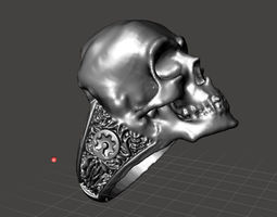 3d printable model maker skull ring