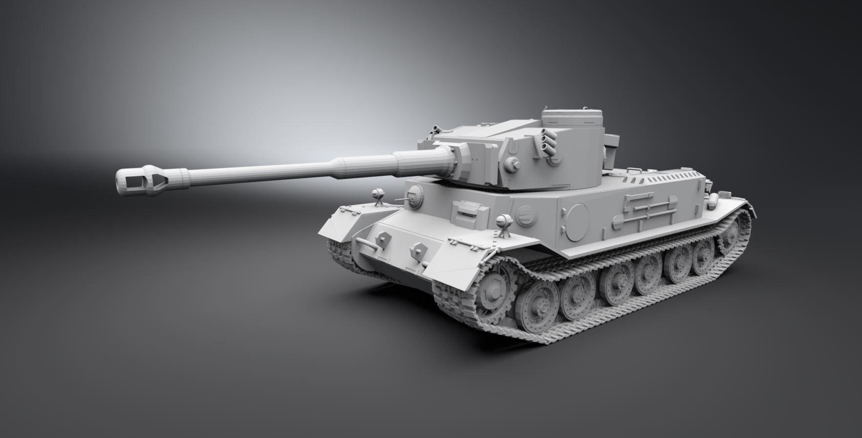 Vk 4501 Tiger Scale model