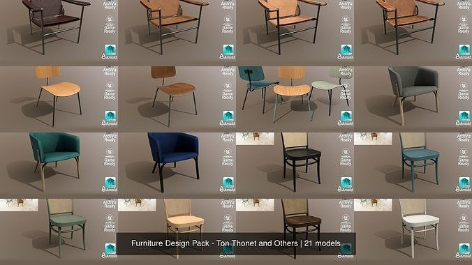 Furniture Design Pack - Ton Thonet and Others