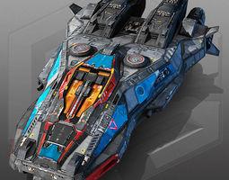 3d asset sci fi scout ship x5 realtime