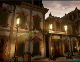 PBR 3d model realtime victorian style house