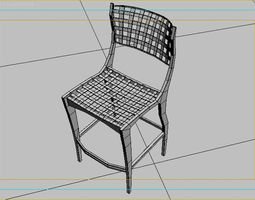 Chair design 3D model game-ready