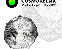 3D Pendant lamp Etch Shade D32
