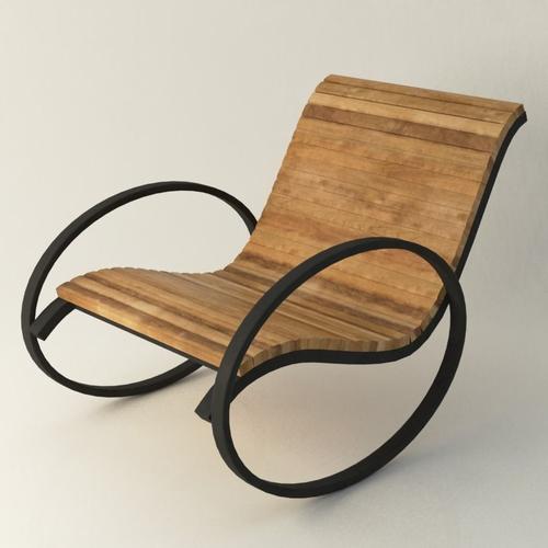 modernistic vintage chair 3d model low-poly max obj mtl fbx ma mb 1