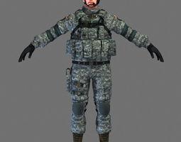 3D model US Marine Soldier