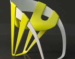3d asset low-poly dry leaf chair