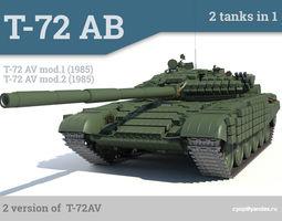 3d model t-72av russian main battle tank 2 in 1