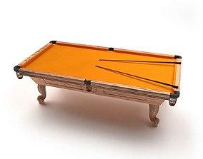 3D Orange Billiard Table