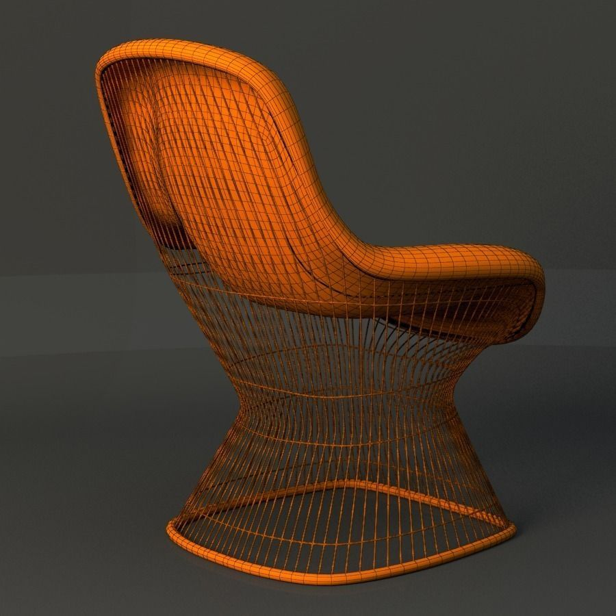 Captivating ... Warren Platner Lounge Chair 3d Model Max Obj Fbx Ma Mb Mtl 5 ...