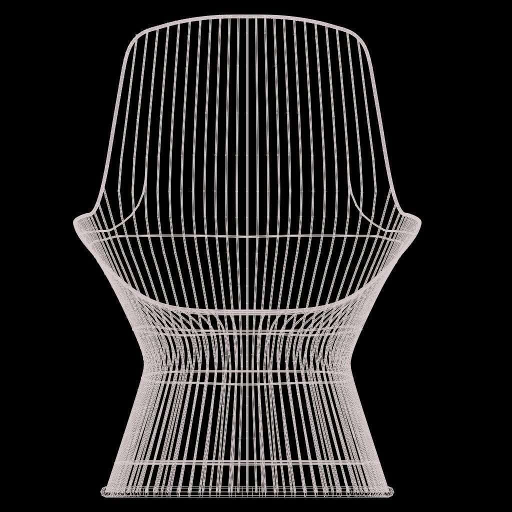 Warren Platner Lounge Chair 3D model   CGTrader