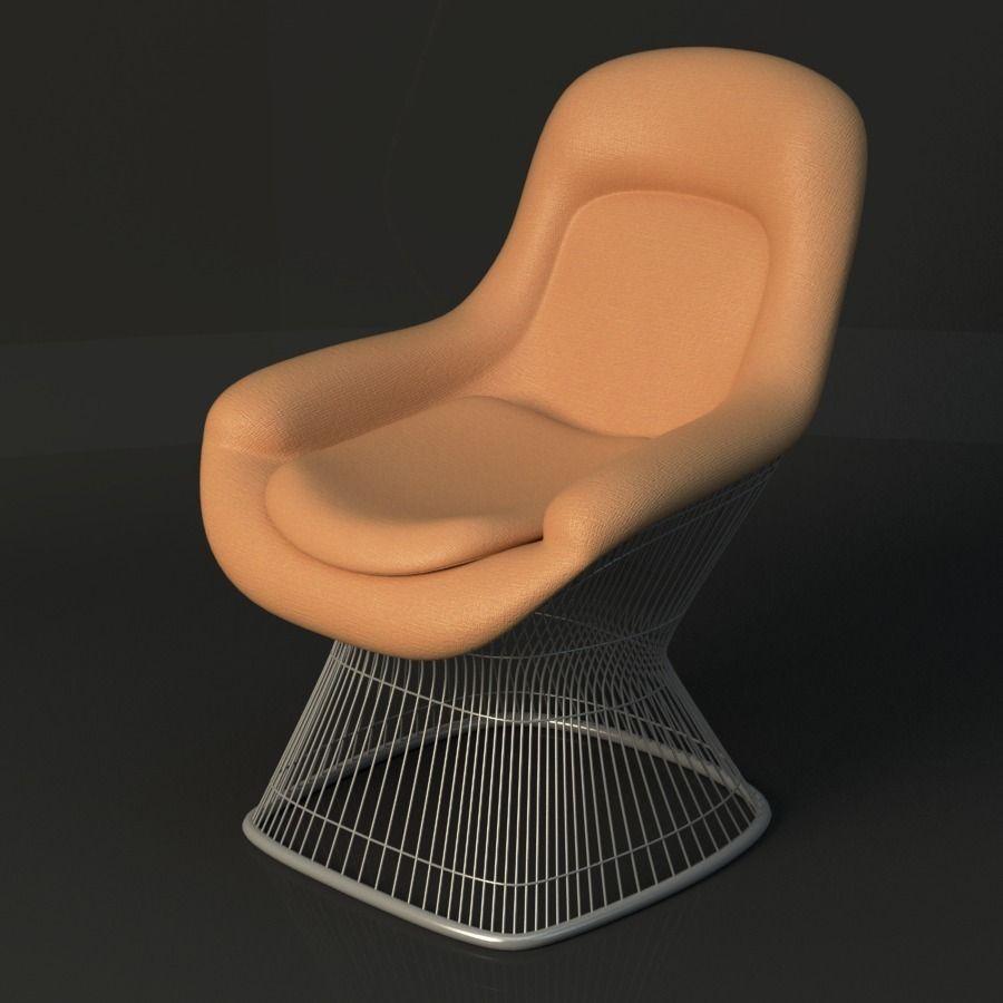 Warren Platner Lounge Chair 3d Model Max Obj Fbx Ma Mb Mtl 1 ...