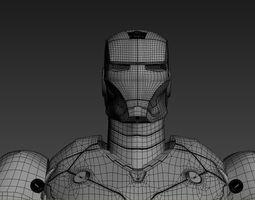 iron man 3 suits 3D Model
