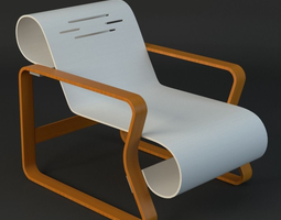 alvar aalto chair 3D model