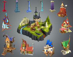 3D asset Stylized Fantasy Collection