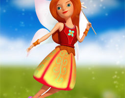 angel character stylized 3d