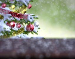 3D Falling Snow Animation