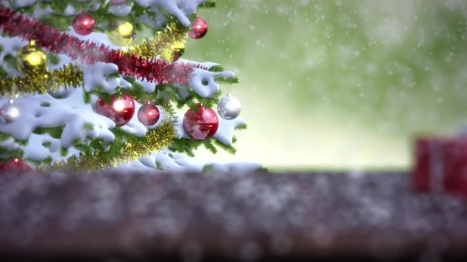 falling snow animation 3d model animated max 1
