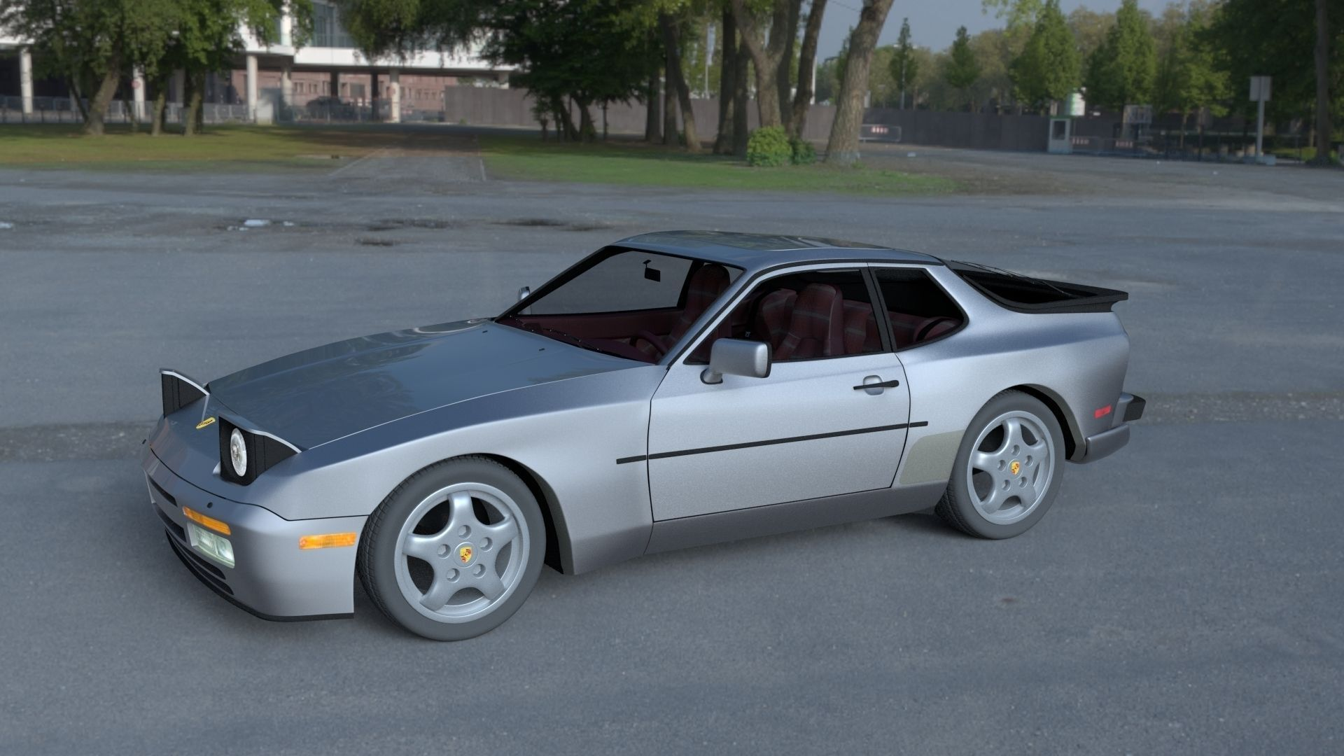 3d Porsche 944 Turbo S With Interior Hdri Cgtrader