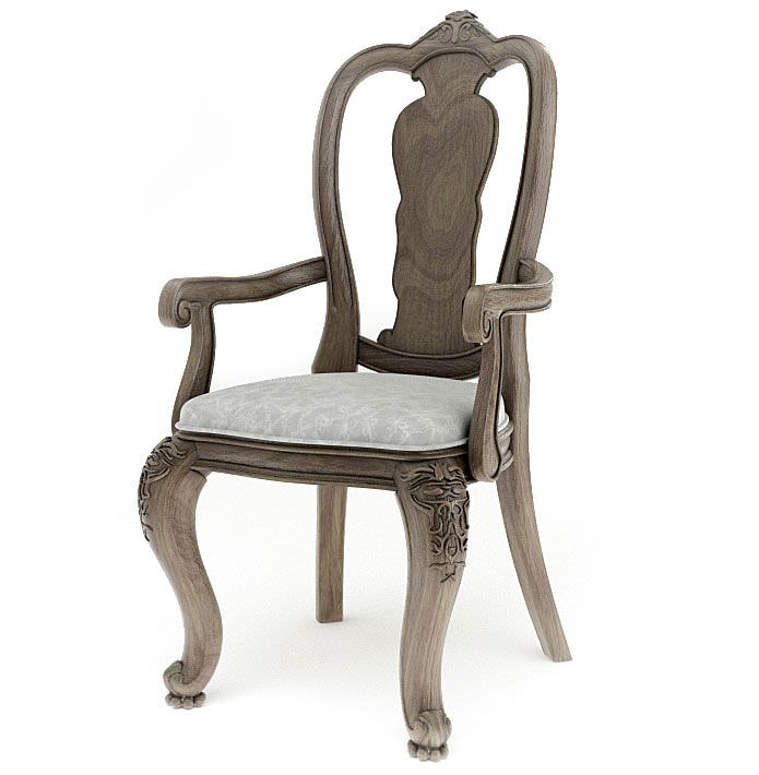 Antique Wooden Chairs >> Antique Wooden Chair 3d Model Cgtrader